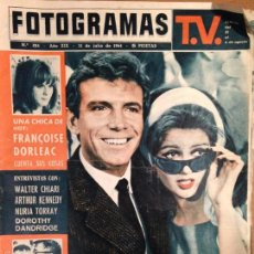 Cine: REVISTA FOTOGRAMAS - 31 DE JULIO 1964 - PORTADA ENTREVISTA FRANÇOISE DORLEAC. Lote 56286059