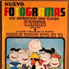 Cine: REVISTA FOTOGRAMAS - 8 DE ENERO DE 1971 - CHARLIE BROWN ESTA EN LA TV. Lote 56286111