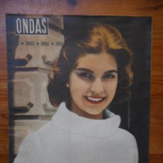 Cine: ONDAS, REVISTA CINE Nº 155, MAYO 1959. MISS UNIVERSO, GINA LOLLOBRIGIDA, MARIA CALLAS, ANA MARISCAL. Lote 150651622