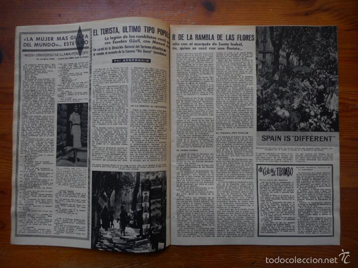 Cine: Ondas, Revista Cine nº 155, mayo 1959. Miss Universo, Gina Lollobrigida, Maria Callas, Ana Mariscal - Foto 3 - 150651622