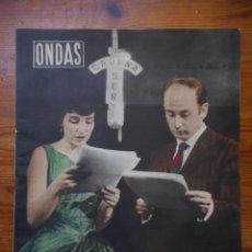 Cine: ONDAS, REVISTA CINE Nº 152, ABRIL 1959. NURIA ESPERT, ADOLFO MARSILLACH, GINA LOLLOBRIGIDA. Lote 56302072