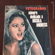 Cine: REVISTA FOTOGRAMAS N° 899 AÑO 1966 / URSULA ANDRESS. Lote 56530995