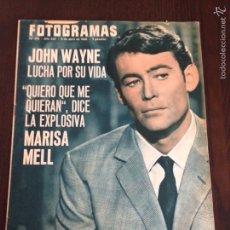 Cine: REVISTA FOTOGRAMAS N° 912 AÑO 1966 / PETER O'TOOLE / MARISA MELL. Lote 56531037