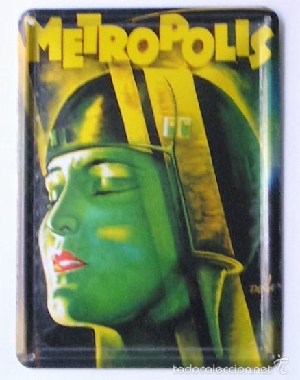 METROPOLIS - FRITZ LANG - CARTEL DE CHAPA (Cine - Reproducciones de carteles, folletos...)