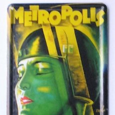 Cine: METROPOLIS - FRITZ LANG - CARTEL DE CHAPA. Lote 56634108