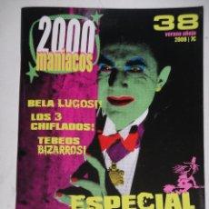 Cinema: 2000 MANÍACOS Nº 38, ED. MANUEL VALENCIA, CINE FREAK BIZARRO TERROR HORROR SEXO PORNO OFERTA Z. Lote 190438571