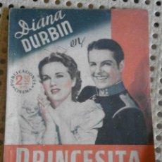 Cine: DIANA DURBIN EN PRINCESITA CON ROBERT CUMMINGS - PUBLICACIONES CINEMA. Lote 56876831