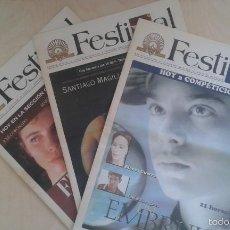 Cine: 3 REVISTAS OFICIALES FESTIVAL DE CINE DE SAN SEBASTIÁN Nº 5, 6 Y 8 -- SEPTIEMBRE 1998. Lote 56877635