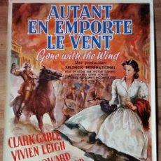 Cine: POSTER DE LO QUE EL VIENTO SE LLEVO 68 X 90 CMS JOHN FABER PRODUCTION, IMP. HOLANDA. Lote 56929981