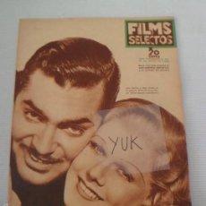 Cine: CLARK GABLE - JEAN HARLOW - CAPITAN BLOOD -CAROLE LOMBARD ... FILMS SELECTOS JUNIO 1936 - NUMERO 297. Lote 56954794