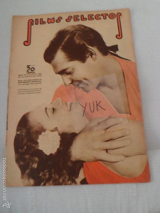 CLARK GABLE - HAROLD LLOYD - SHIRLEY TEMPLE ... FILMS SELECTOS MARZO 1936 - NUMERO 284 (Cine - Revistas - Films selectos)