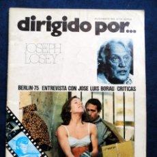 Cine: REVISTA DE CINE DIRIGIDO POR... JOSEPH LOSEY, Nº 25, JULIO/AGOSTO 1975. Lote 57050405