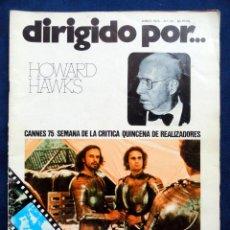 Cine: REVISTA DE CINE DIRIGIDO POR... HOWARD HAWKS, Nº 24, JUNIO 1975. Lote 57050422