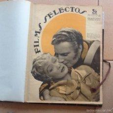 Cine: LOTE DE 17 EJEMPLARES FILMS SELECTOS, NºS 272 AL 288 DE ENERO A ABRIL DE 1936. Lote 85137562