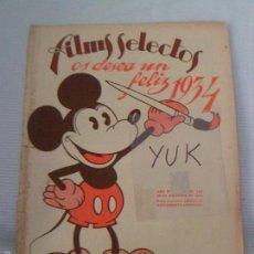 Cine: MICKEY MOUSE DE WALT DISNEY -EL GORDO Y EL FLACO ...REVISTA FILMS SELECTOS DICIEMBRE 1933 - Nº 168. Lote 152366862