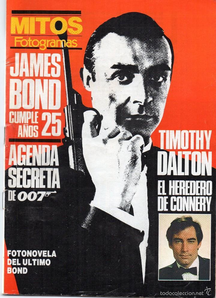 MITOS FOTOGRAMAS, JAMES BOND CUMPLE 25 AÑOS (Cine - Revistas - Fotogramas)