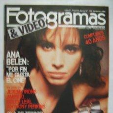 Cine: ANA BELEN. REVISTA FOTOGRAMAS. 1986.. Lote 57229985