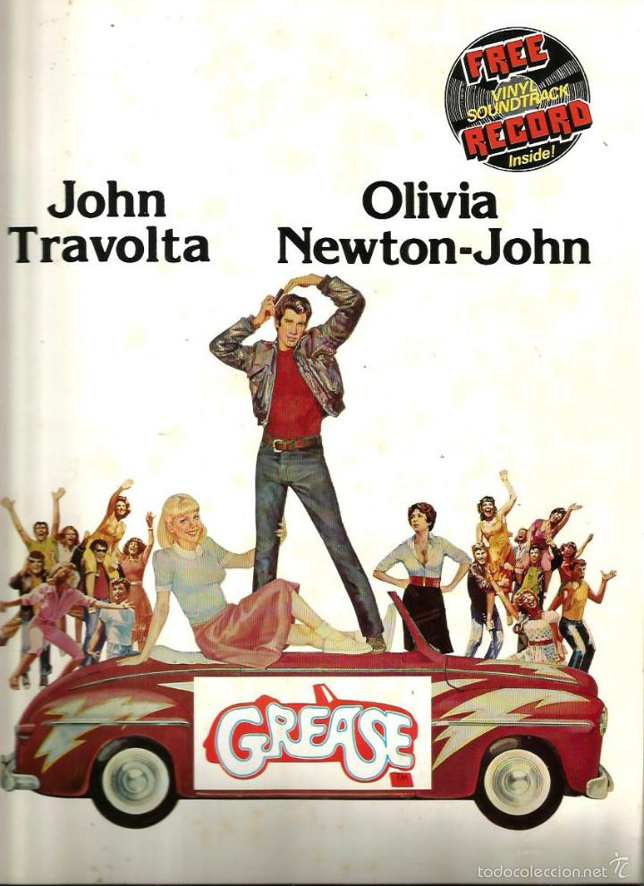 GREASE ( REVISTA + FLEXI RECORD ) JOHN TRAVOLTA & OLIVIA NEWTON-JOHN (Cine - Revistas - Otros)