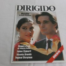 Cine: DIRIGIDO POR... Nº 134. MATADOR, DE ALMODOVAR. GINGER Y FRED. JAIME CHAVARRI. VICENTE ARANDA. INGMAR. Lote 227485370
