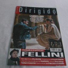 Cine: DIRIGIDO POR... Nº 390. ESPECIAL FELLINI. CANNES 2009. LA CAJA DE PANDORA. TERMINATOR SALVATIONI.. Lote 214454676