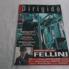 Cine: DIRIGIDO POR... Nº 391: ESPECIAL FELLINI (3). ANTICRISTO. ENEMIGOS PUBLICOS. ASALTO AL TREN. TETRO.. Lote 214454802