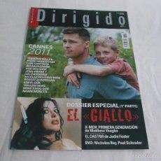 Cine: DIRIGIDO POR... Nº 412: ESPECIAL EL GIALLO (1). CANNES 2011. EL CASTOR, DE JODIE FOSTER. X-MEN,. Lote 179220030