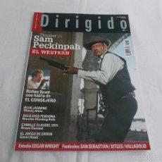 Cine: DIRIGIDO POR... Nº 438. SAM PECKINPAH, EL WESTERN. SOLO DIOS PERDONA. EL JUEGO DE ENDER. CAMILLE CLA. Lote 287672498