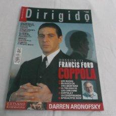 Cinéma: DIRIGIDO POR... Nº 444. FRANCIS FORD COPPOLA (1). DARREN ARONOFSKY. STELLA CADENTE. MANIAC. ROMPENIE. Lote 221266657