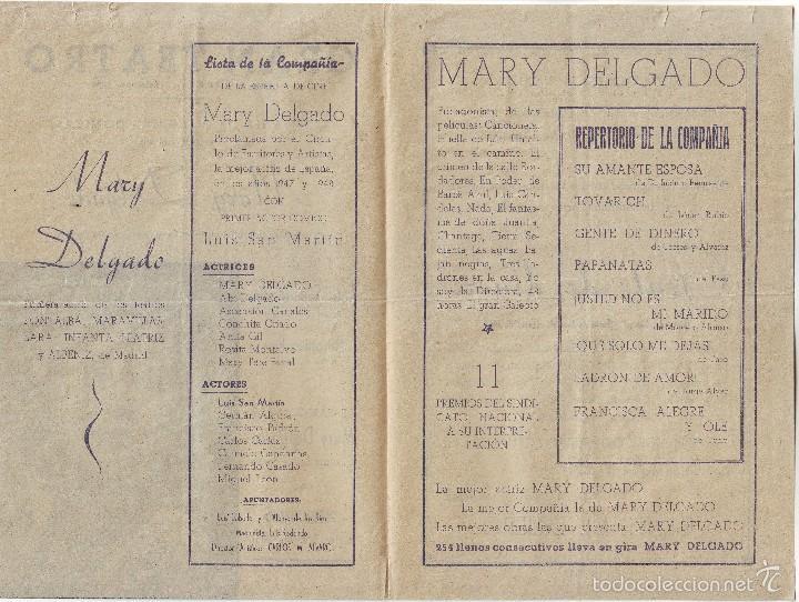 Cine: GRAN TEATRO DE CÁCERES OBRA GENTE DE DINERO MARY DELGADO 1951 - Foto 2 - 57681283