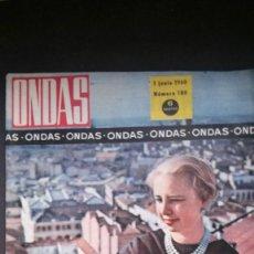 Cine: REVISTA ONDAS 180-1960-MATILDE CONESA-MEDIAS-FESTIVAL CANNES-CANARIAS-ALBERTO CLOSAS-SOLER SERRANO. Lote 57742030