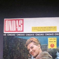 Cine: ONDAS 182-1960-MAIJA FISHER-MISS CHINA-DALI-PUBLICIDAD LICOR 43-MEDIAS-EUROVISION-5 LATINOS-B.B.. Lote 61556708