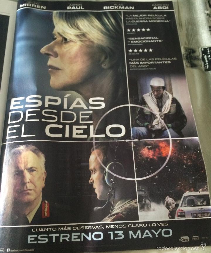 'ESPÍAS DESDE EL CIELO', CON HELEN MIRREN. PUBLICIDAD EN PRENSA. NUEVO. (Cine - Reproducciones de carteles, folletos...)