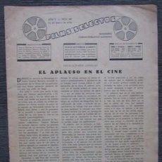 Cine: FILMS SELECTOS 187. 1934. CHAPLIN, CECIL B, DE MILLE, ALINE MAC MAHON, GARY COOPER, CLARK GABLE.... Lote 57816496