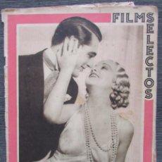 Cine: FILMS SELECTOS 203. 1934. CARY GRANT, GENEVIEVE TOBIN, ROSITA BALLESTEROS, JOAN BLONDELL.... Lote 57826394
