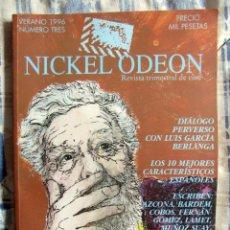 Cine: NICKEL ODEON. REVISTA TRIMESTRAL DE CINE. VERANO 1996. Nº 3 - LUIS GARCÍA BERLANGA. Lote 85135783