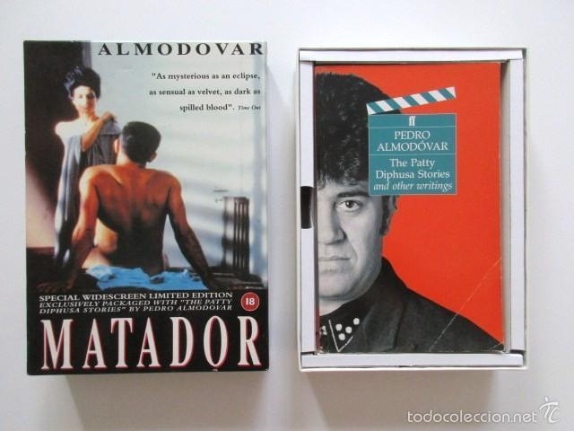 PEDRO ALMODÓVAR, AUTÉNTICA RAREZA, VHS EDICIÓN INGLESA, LIMITADA Y NUMERADA. MATADOR Y PATTY DIPHUSA (Cine - Revistas - Otros)