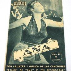 Cine: GRAN CINE LOS EXITOS DE LA PANTALLA, Nº 3, ANA SILVANA MANGANO, CON LETRA Y MUSICA DEL BAYON DE ANA. Lote 57889721