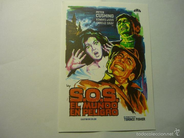 REPROD.PROGRAMA S.O.S EL MUNDO EN PELIGRO - PETER CUSHING (Cine - Reproducciones de carteles, folletos...)