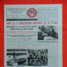 Cine: AS FILMS, PERIODICO INF. CINEMATOGRÁFICA, AÑO V, Nº 37, EXTRA MAY/JUN 1960. Lote 58155149