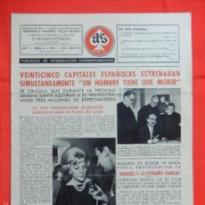Cine: AS FILMS, PERIODICO INF. CINEMATOGRÁFICA, AÑO V, Nº 35, EXTRA ENE/FEB 1960. Lote 58155457