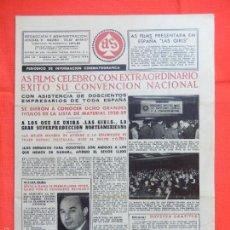Cine: AS FILMS, PERIODICO INF. CINEMATOGRÁFICA, AÑO III, Nº 21, EXTRA JUNIO 1958. Lote 58156308