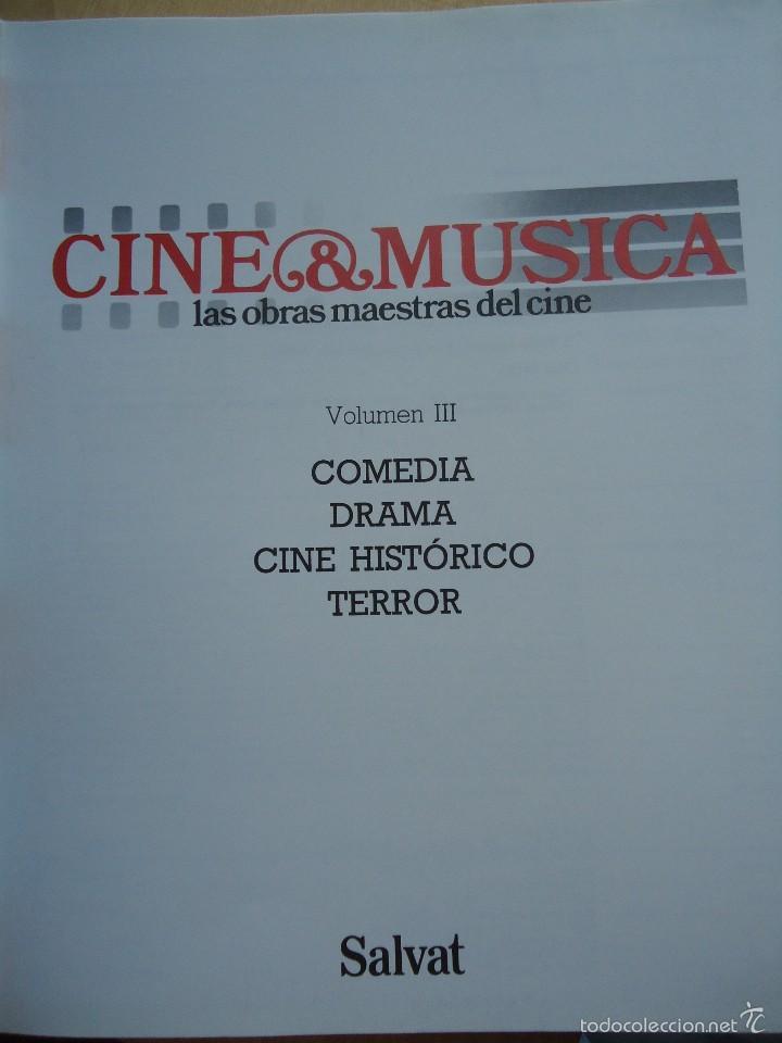 Cine: LIBRO CINE Y MÚSICA. VOLUMEN 3. CON NUMEROSAS FOTOS Y GUÍA DEL OYENTE.VER DATOS. - Foto 2 - 58182172
