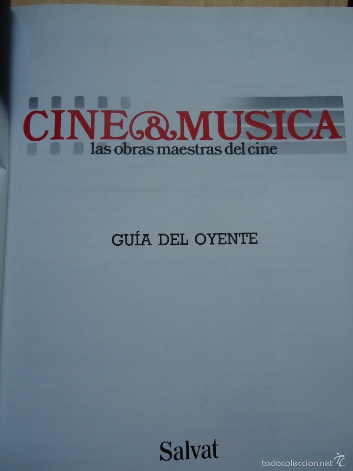 Cine: LIBRO CINE Y MÚSICA. GUÍA DEL OYENTE, LAS OBRAS MAESTRAS DEL CINE, CON NUMEROSAS FOTOS.VER DATOS - Foto 2 - 58182263