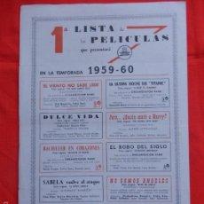 Cine: NOTICIARIO CIFESA, 1A LISTA DE PELÍCULAS, AÑO I, NÚM. 6, ABRIL 1959. Lote 58184854
