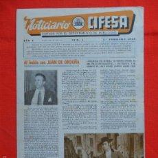 Cine: NOTICIARIO CIFESA, AÑO I, NÚMERO 1, FEBRERO 1959. Lote 58184978