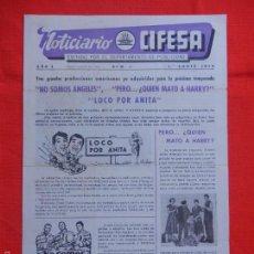 Cine: NOTICIARIO CIFESA, AÑO I, NÚMERO 5, ABRIL 1959. Lote 58185092