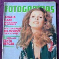 Cine: FOTOGRAMAS Nº 1283 - MAYO 1973 - ANALIA GADE - BELMONDO - VALENTINO. Lote 58255796