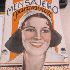 Cine: MENSAJERO PARAMOUNT. MAYO 1931. Nº 5. IMPERIO ARGENTINA. Lote 58375887