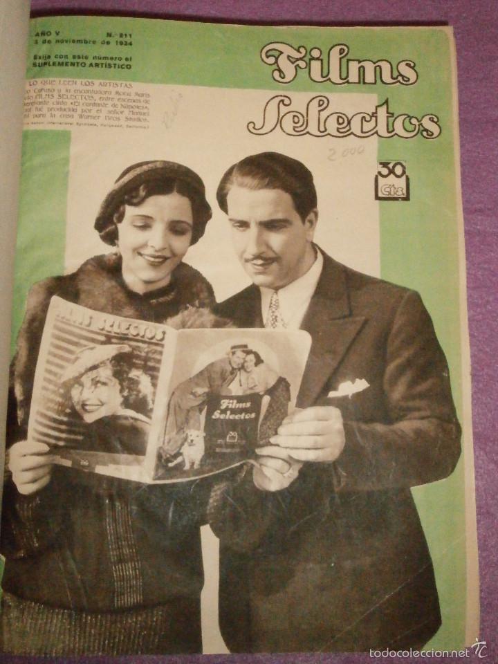 Cine: FILMS SELECTOS - Tomo encuadernado - DVERSOS NÚMEROS AÑOS 1942 Y 1943 - - Foto 2 - 58416431