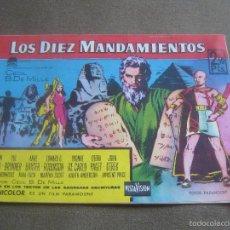 Cinema: REVISTA CINECOLOR - 1959 - LOS DIEZ MANDAMIENTOS . Lote 58490940